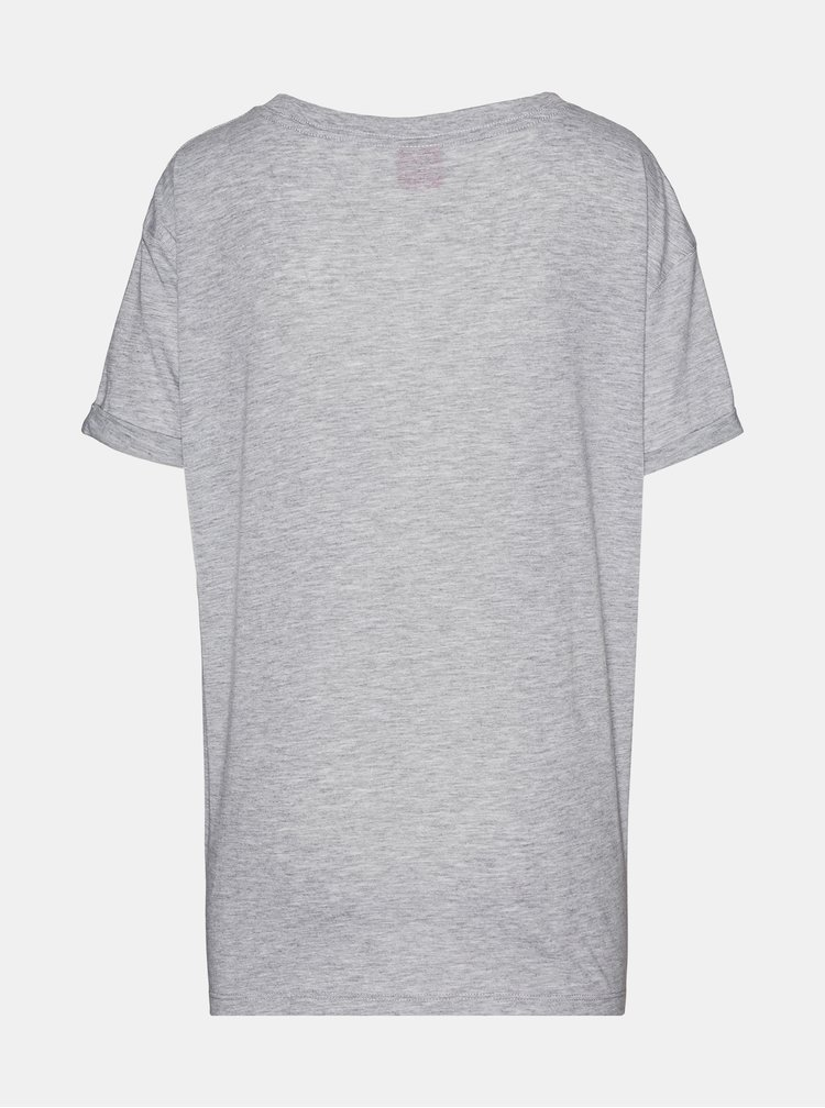Šedé dámské tričko s potiskem SAM 73