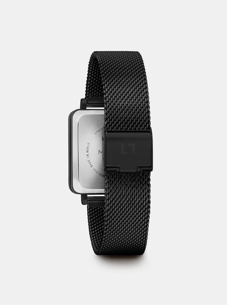 Dámské hodinky s černým nerezovým páskem Millner Royal