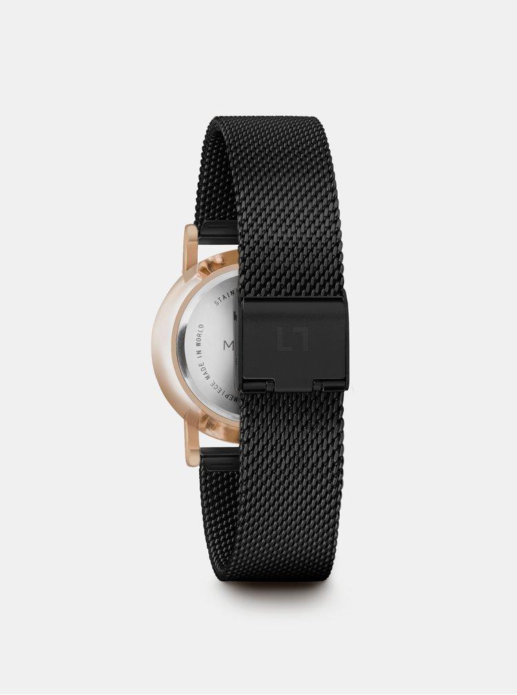 Dámské hodinky s černým nerezovým páskem Millner Mini