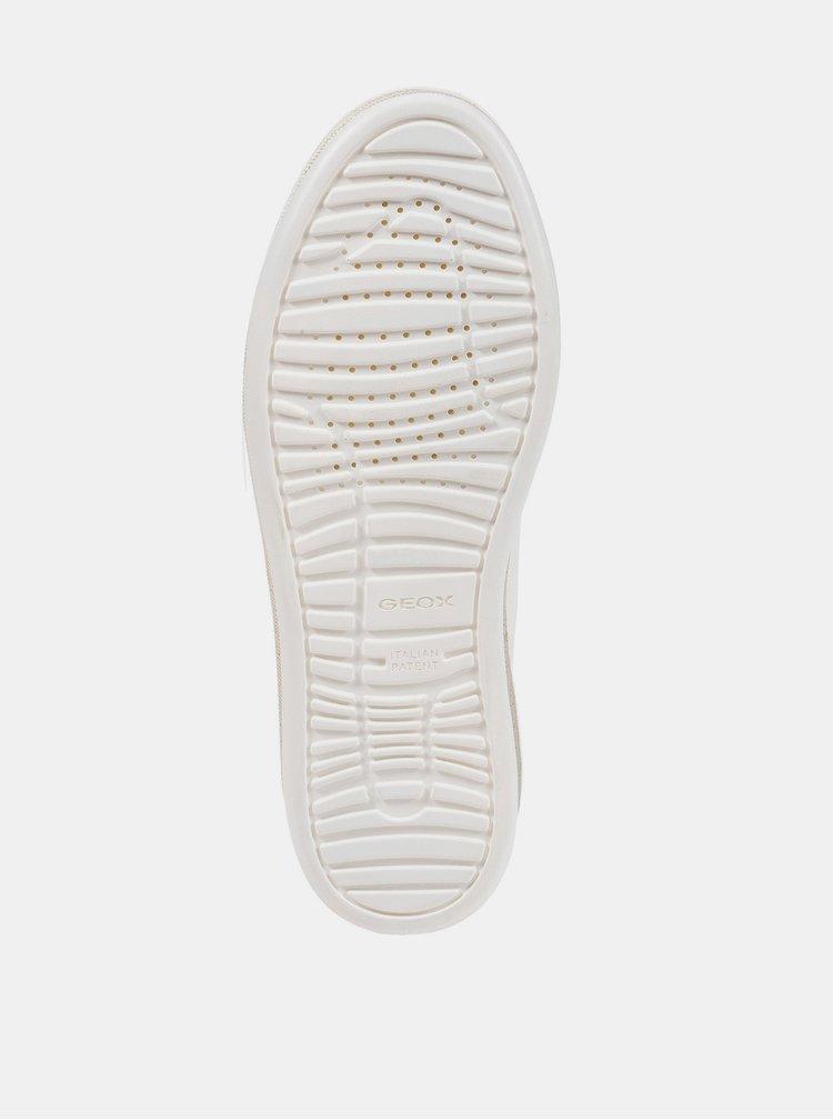 Bílé dámské kožené tenisky Geox