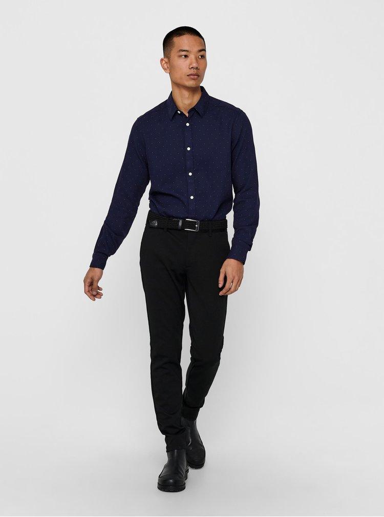 Camasi office pentru barbati ONLY & SONS - albastru inchis