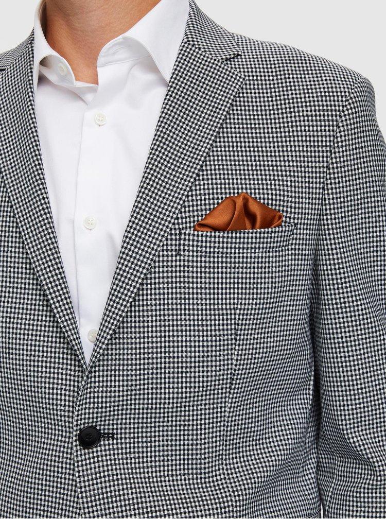 Šedé kostkované oblekové sako Selected Homme