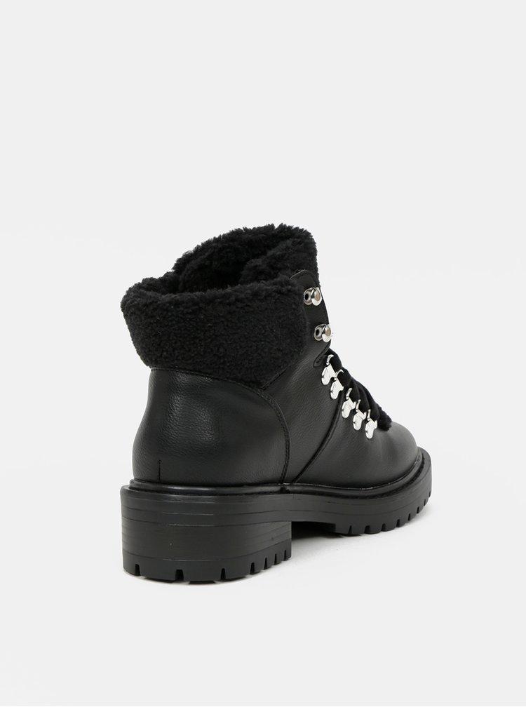 Černé kotníkové zimní boty ONLY