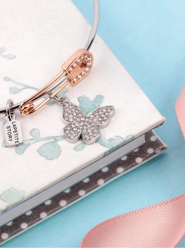 Náramek ve stříbrné barvě s přívěsky La Petite Story