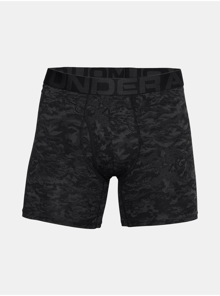 Černé boxerky Under Armour UA CC 6in Novelty 3 Pack