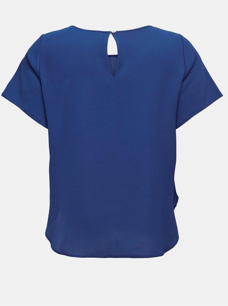 Modrá halenka ONLY CARMAKOMA Luxmaja