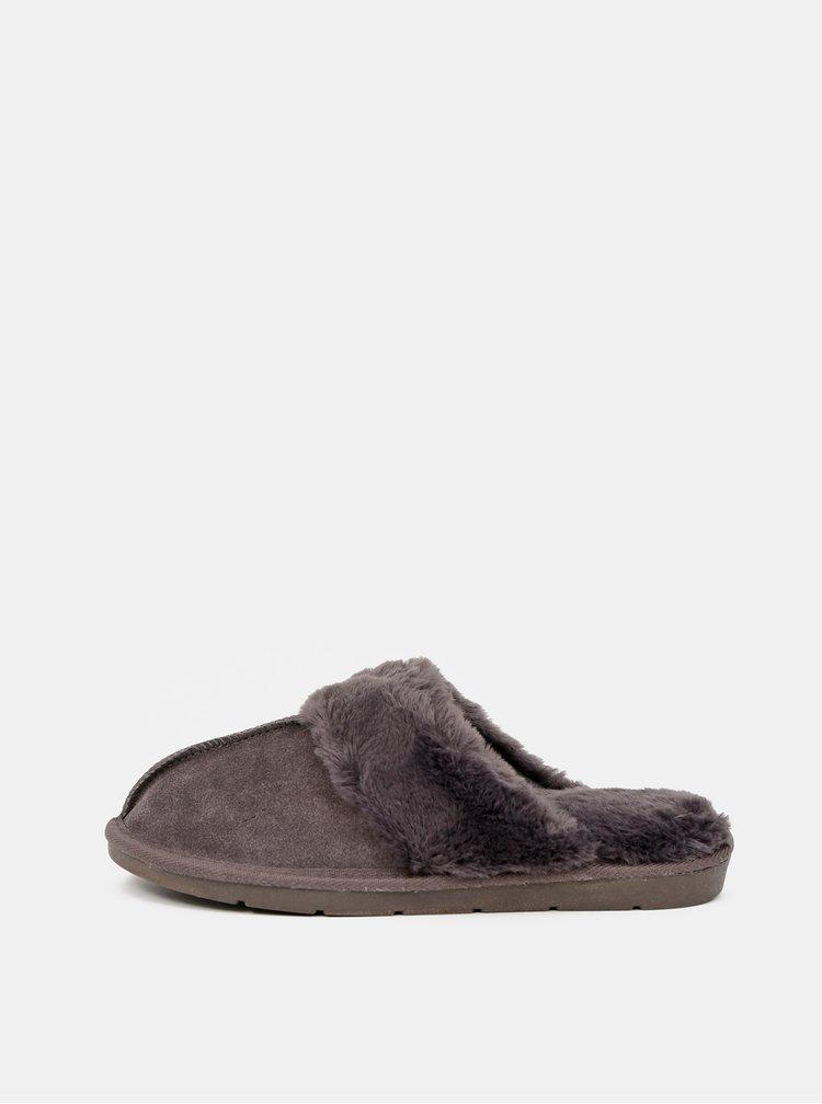 Tmavě šedé pantofle Dorothy Perkins