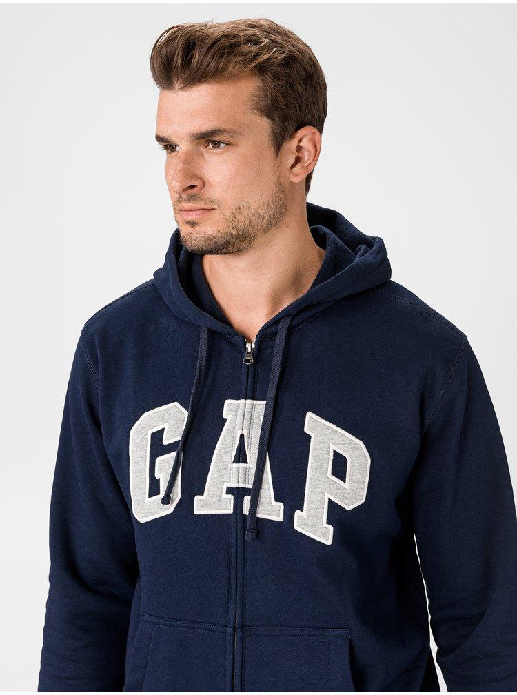Modrá pánská mikina GAP Zip Logo