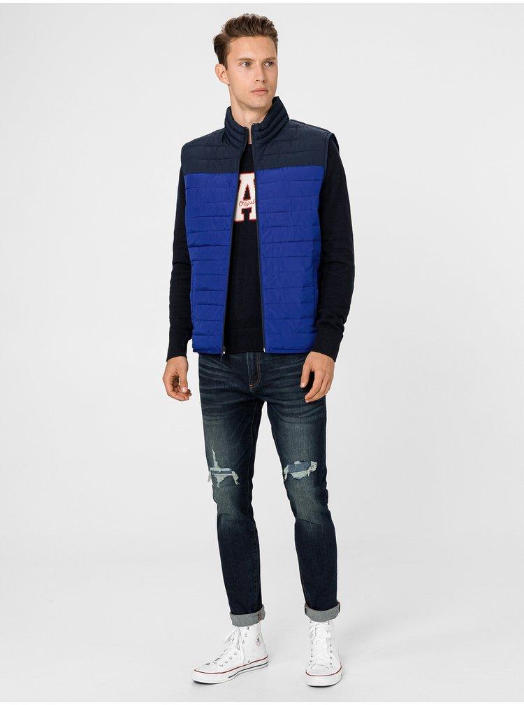 Modrá pánská vesta GAP
