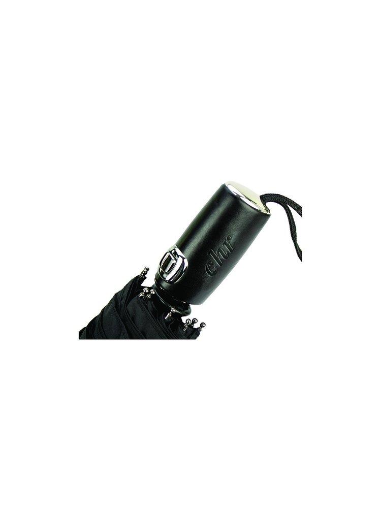Cachemir Leather pánský plně automatický skládací deštník - Černá