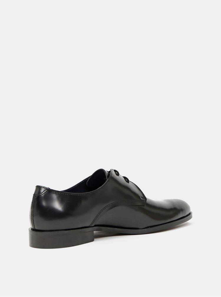 Černé kožené polobotky Burton Menswear London