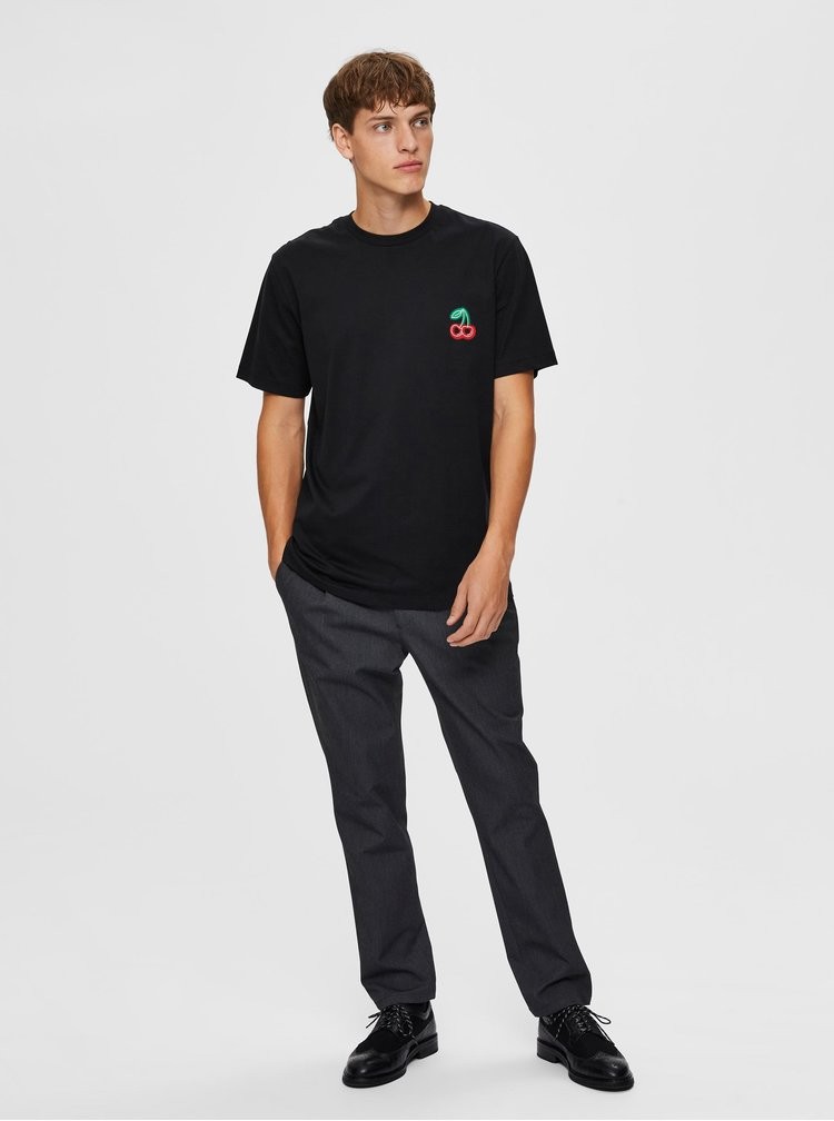 Tricouri pentru barbati Selected Homme - negru