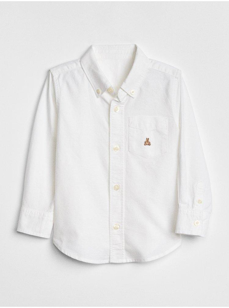 Bílá klučičí košile GAP Oxford