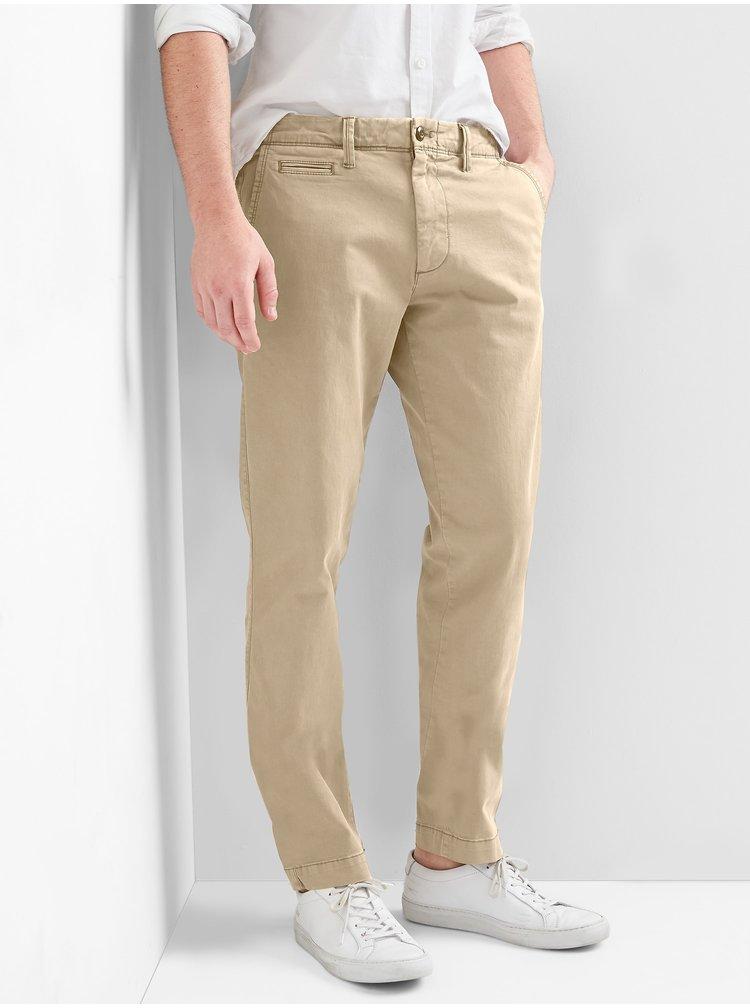 Béžové pánské kalhoty GAP SLIM