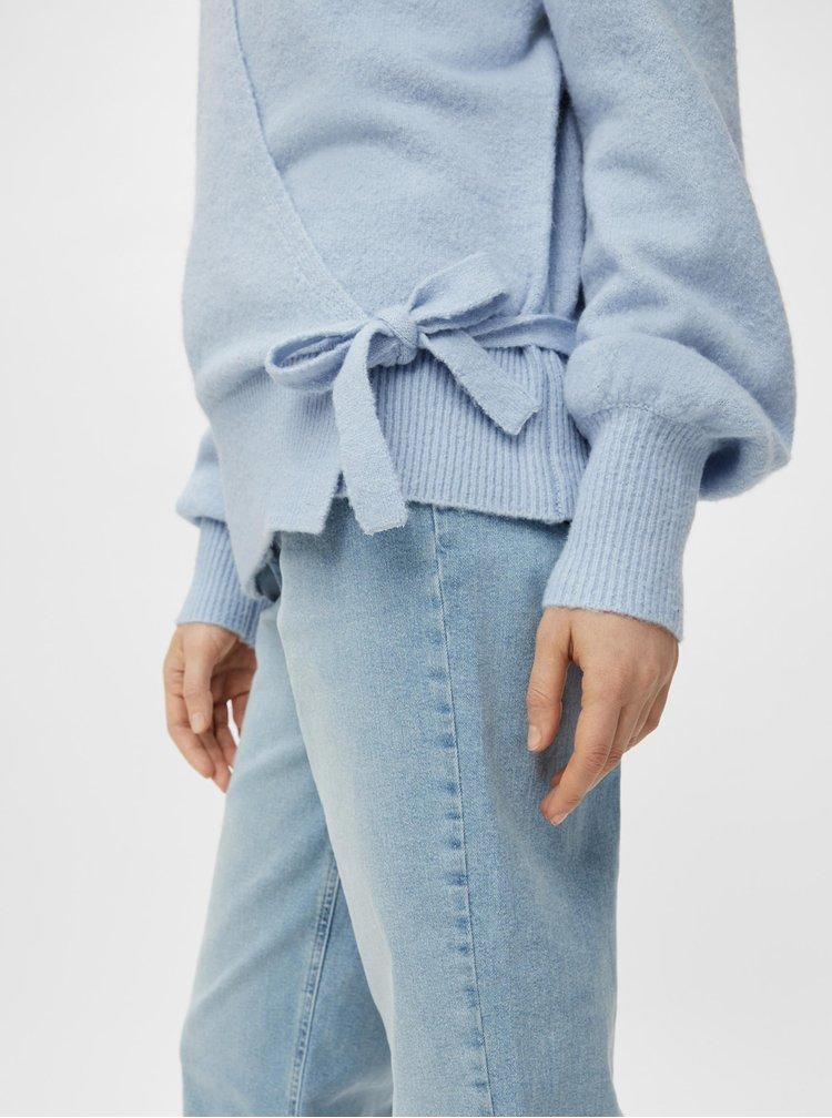 Pulovere pentru femei Pieces - albastru deschis