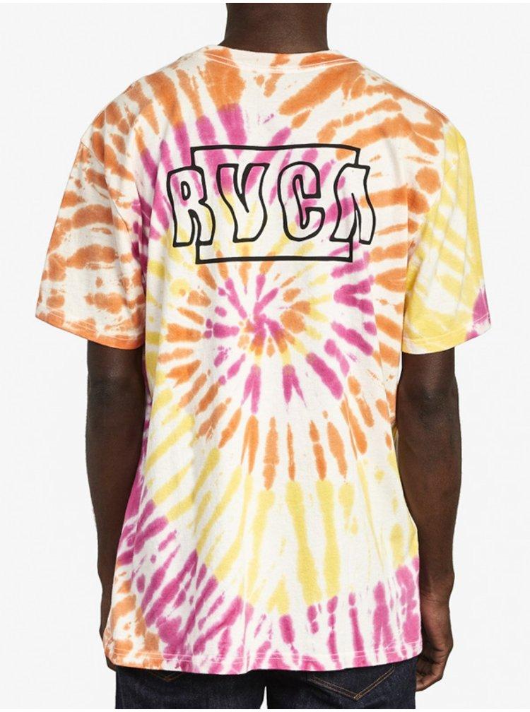 RVCA SWERVE PINK HAZE pánské triko s krátkým rukávem - barevné