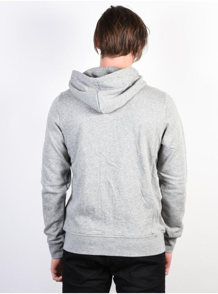 Element BLAZIN grey heather pánská mikiny na zip - šedá