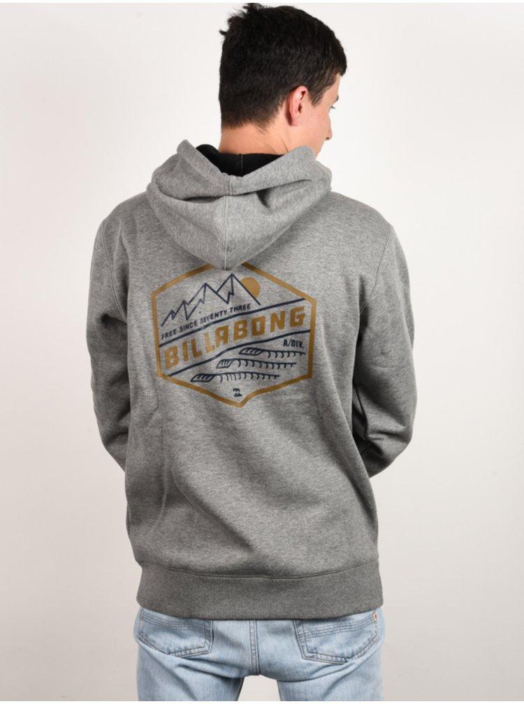 Billabong SHORELINE grey heather mikiny přes hlavu pánská - šedá
