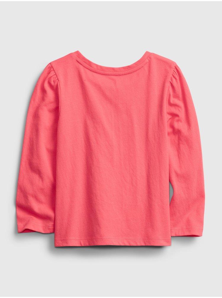 Oranžové holčičí tričko GAP