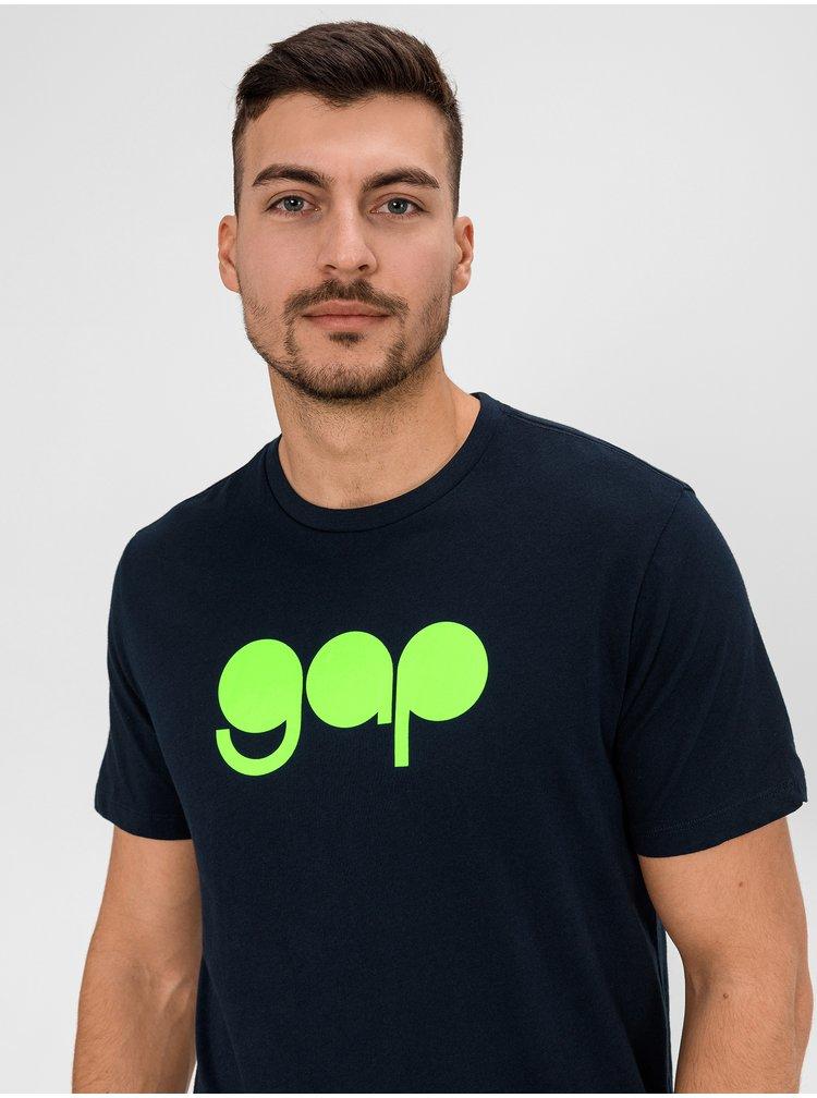 Modré pánské tričko GAP Logo