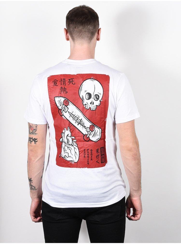 Element LOVE PASSION DEATH OPTIC WHITE pánské triko s krátkým rukávem - bílá