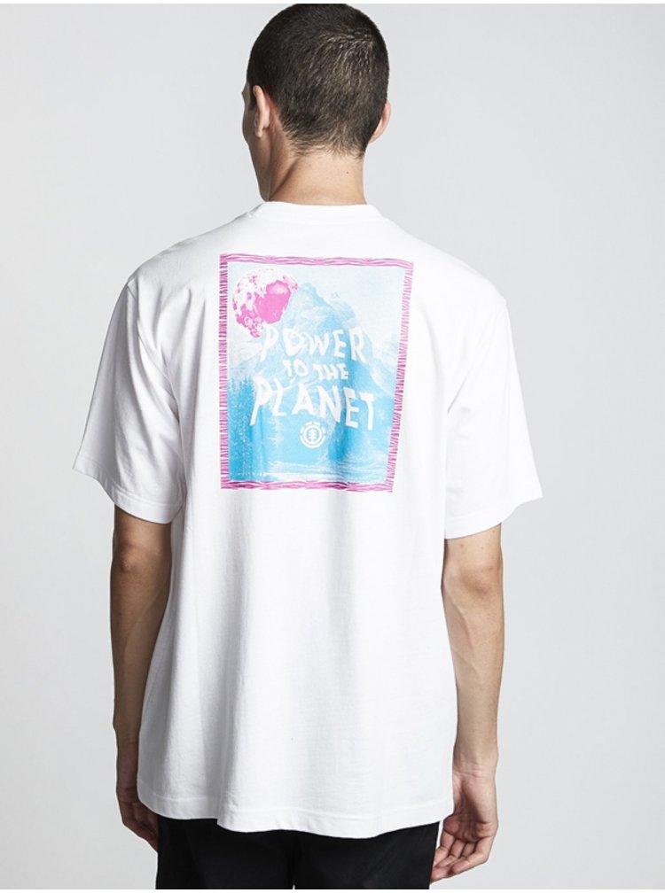 Element ALCOVE OPTIC WHITE pánské triko s krátkým rukávem - bílá