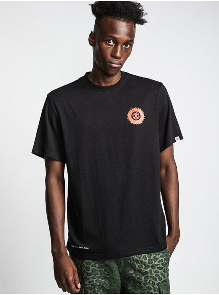 Element FLORIAN FLINT BLACK pánské triko s krátkým rukávem - černá