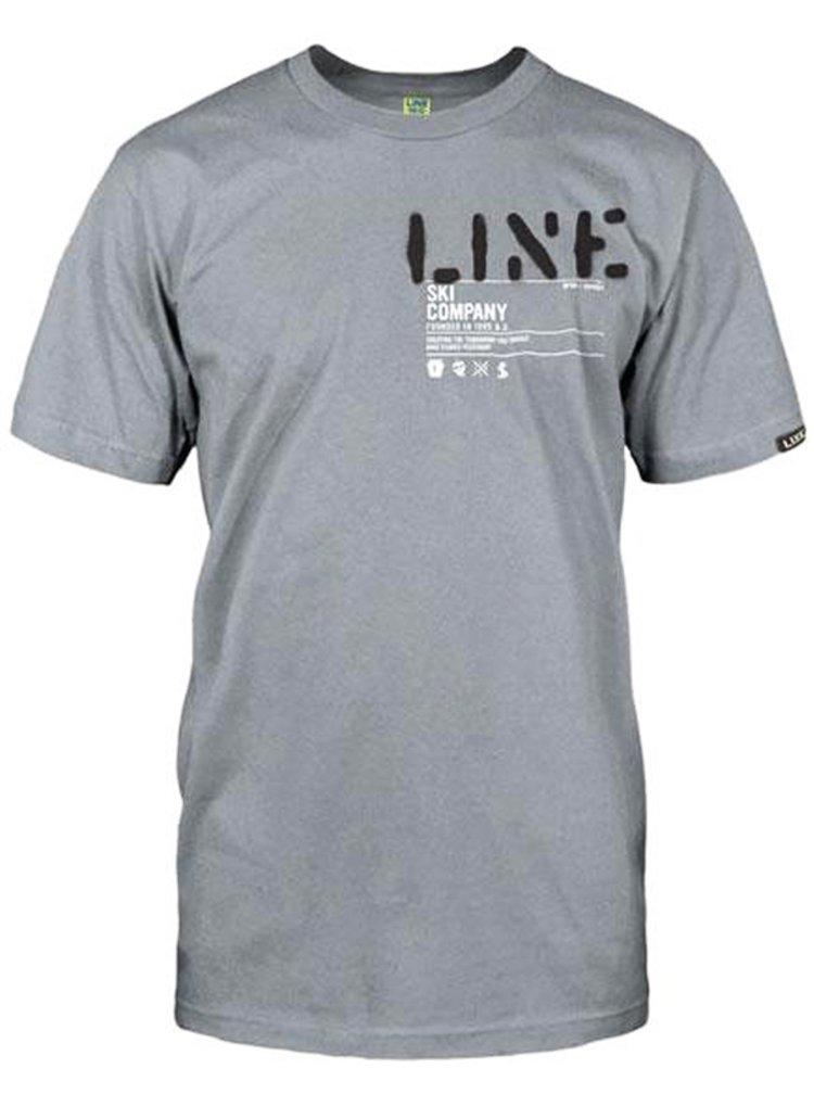 Line Stencil GRAY pánské triko s krátkým rukávem - šedá