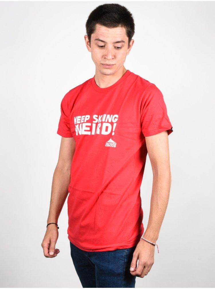 Line Traveling Circus RED pánské triko s krátkým rukávem - červená