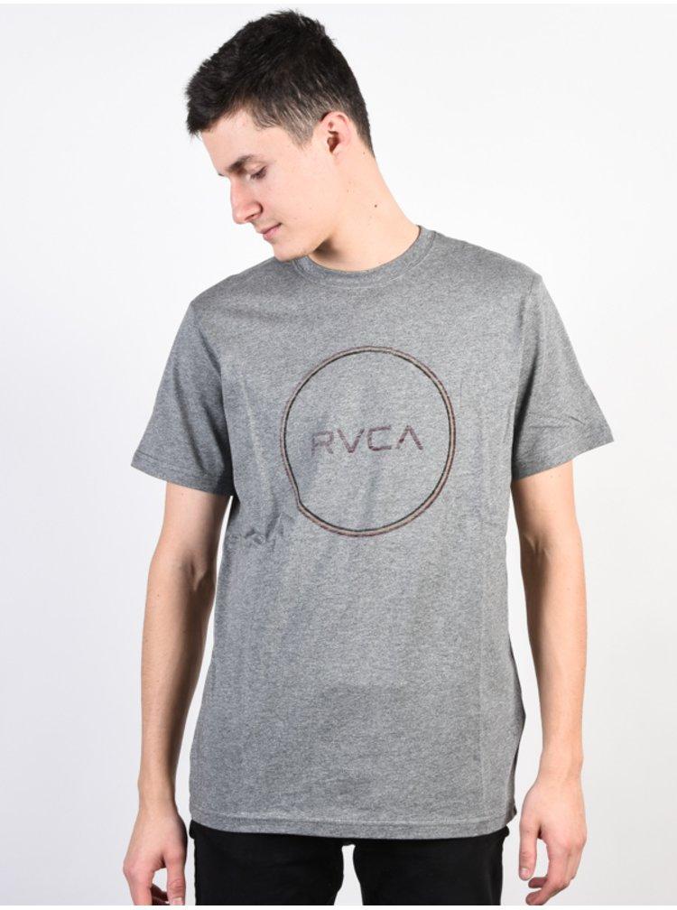 RVCA MOTORS STANDARD ATHLETIC HEATHER pánské triko s krátkým rukávem - šedá