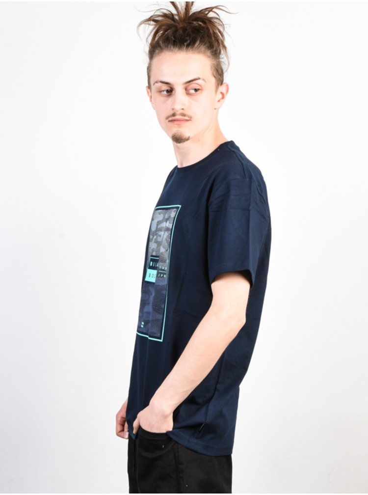 Billabong TUCKED NAVY pánské triko s krátkým rukávem - modrá