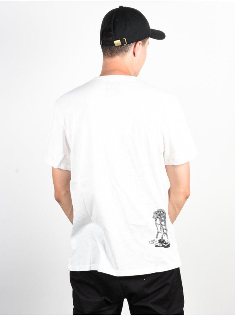 Element SPILT off white pánské triko s krátkým rukávem - bílá