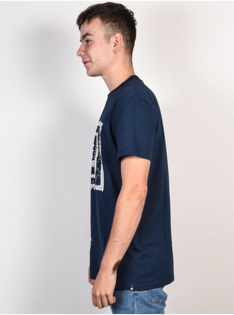 Dc BLOCKER BLACK IRIS pánské triko s krátkým rukávem - modrá