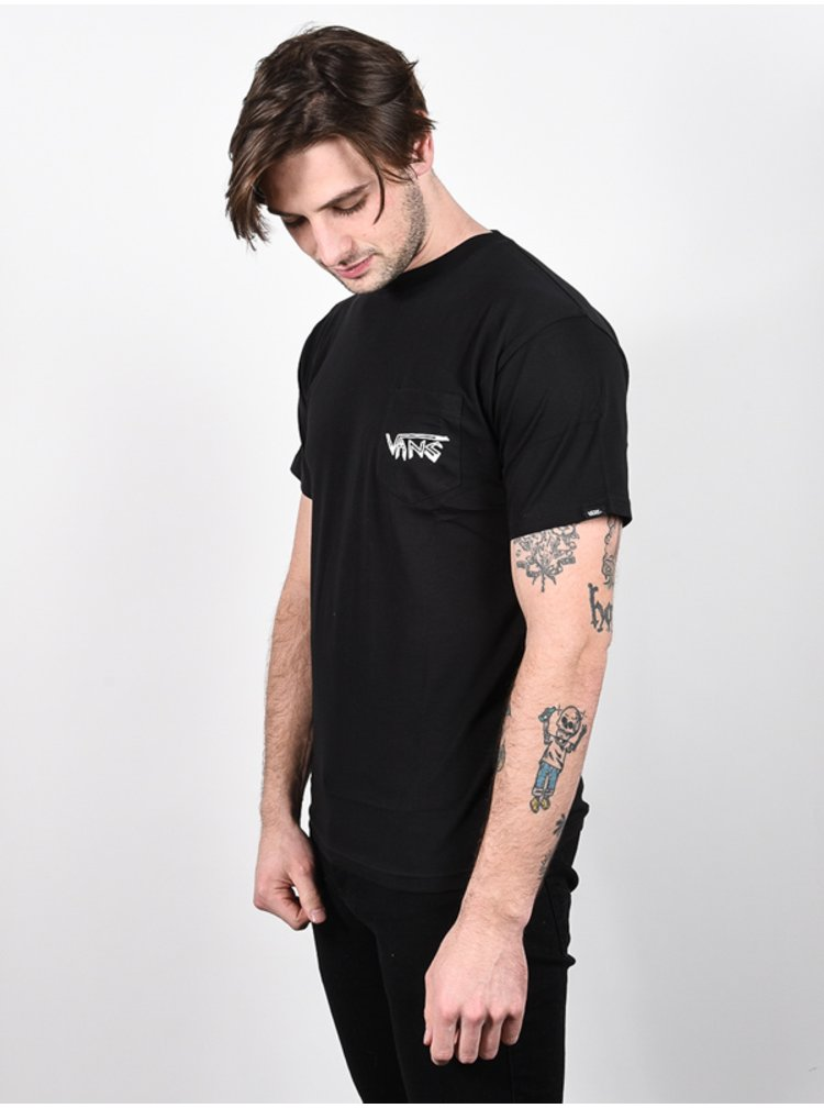 Vans ROWAN ZORILLA SKULL black pánské triko s krátkým rukávem - černá