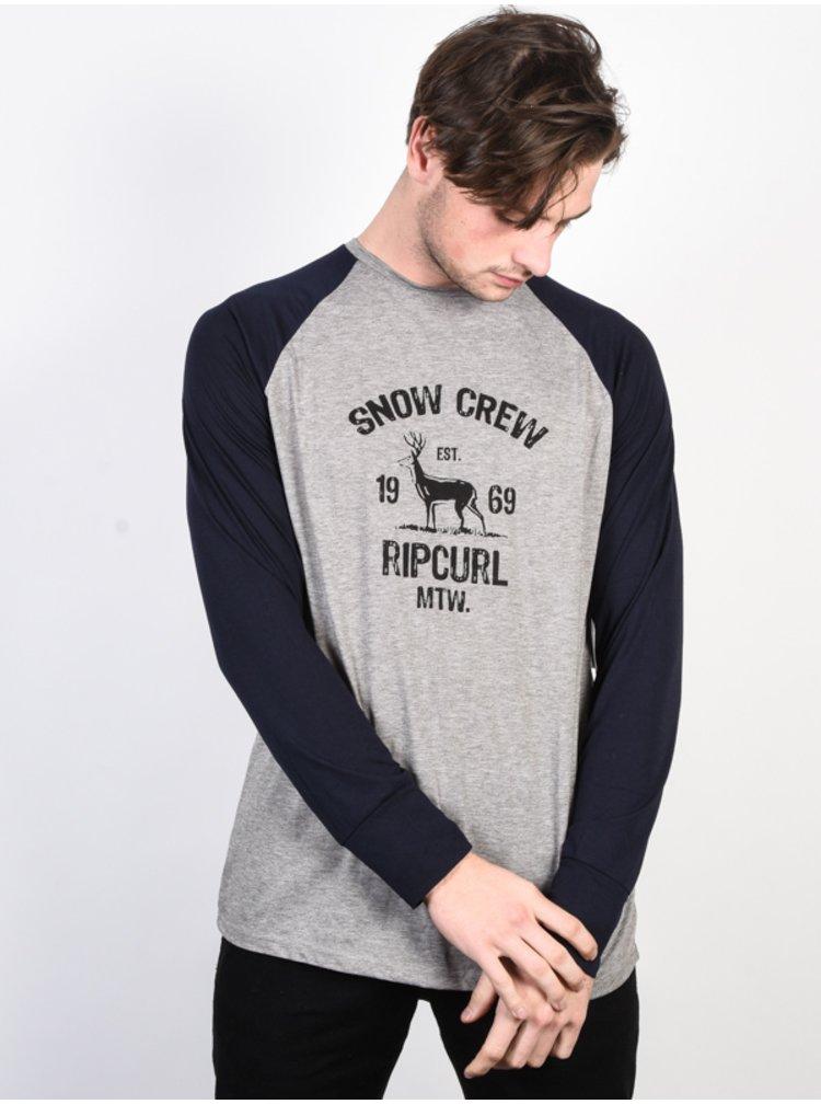 Rip Curl SHRED DRESS BLUE pánské triko s dlouhým rukávem - šedá