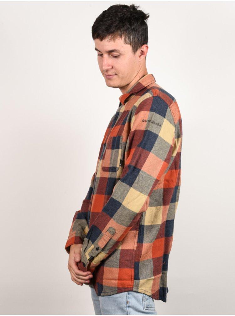 Quiksilver MOTHERFLY BURNT BRICK MOTHERFLY pánské košile s dlouhým rukávem - oranžová