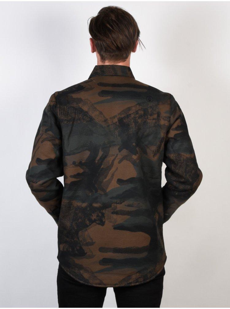 Volcom Sherpa CAMOUFLAGE podzimní bunda pro muže - hnědá