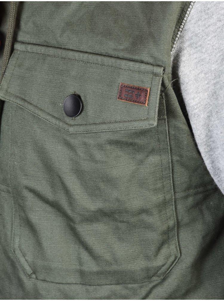 Billabong BARLOW HYBRID MILITARY podzimní bunda pro muže - šedá