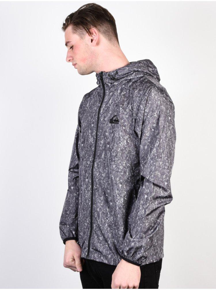 Quiksilver EVERYDAY TARMAC ACID PRINT podzimní bunda pro muže - šedá
