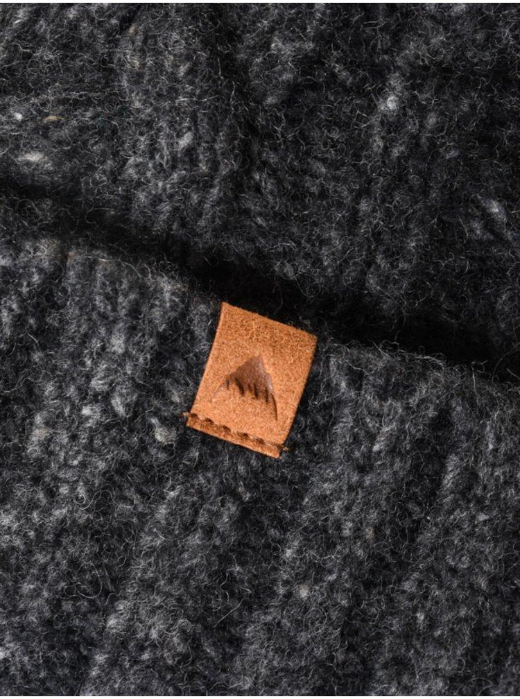 Burton BERING TRUE BLACK pánská čepice - šedá