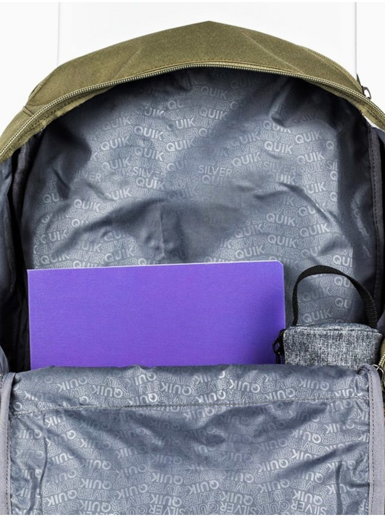 Quiksilver ALPACK BURNT OLIVE batoh do školy - zelená