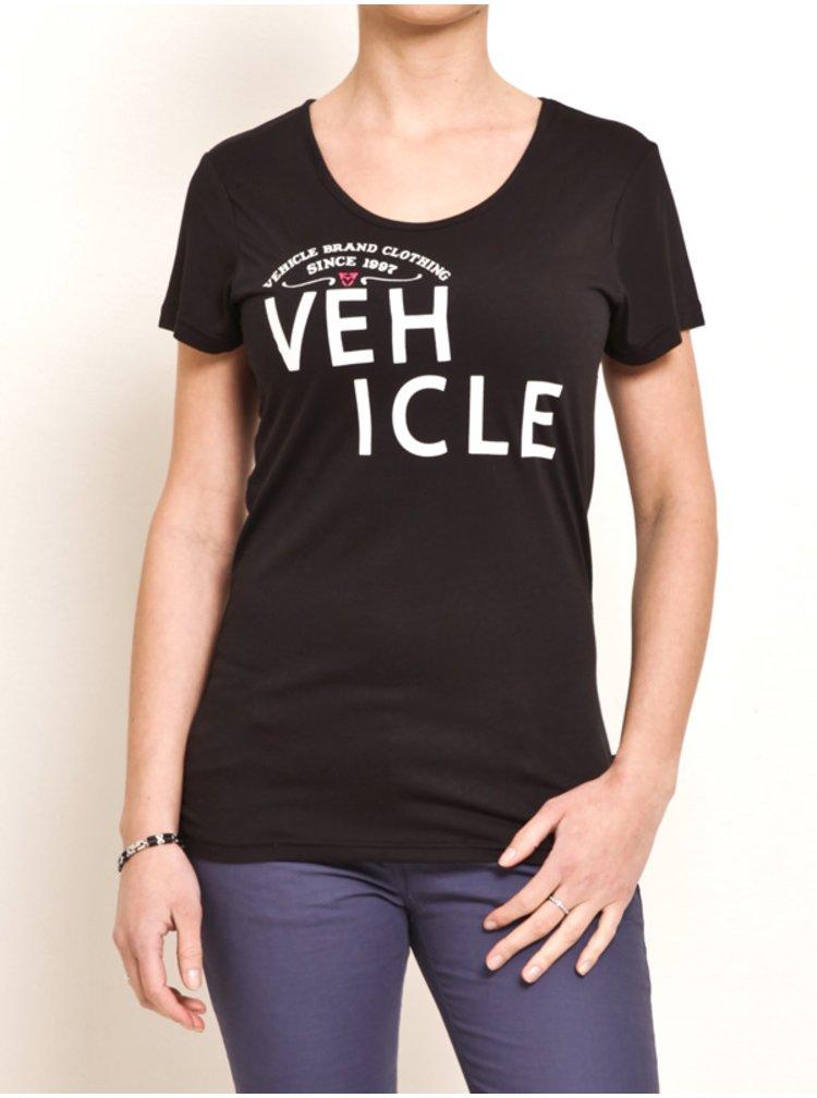 Vehicle BALDNESS black dámské triko s krátkým rukávem - černá