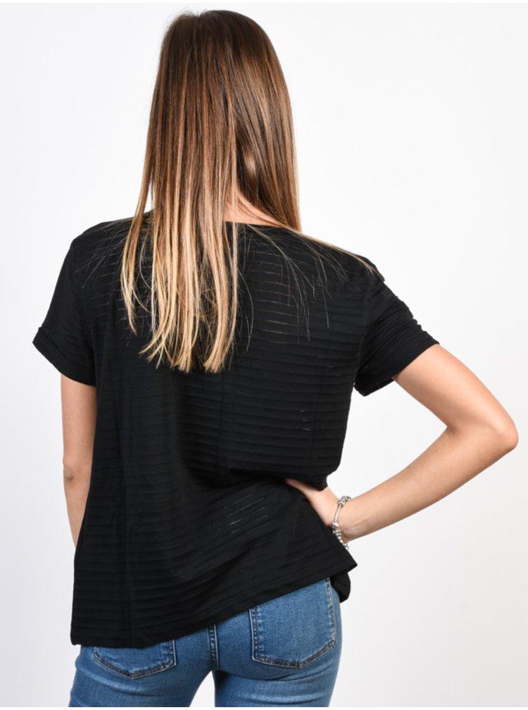 Roxy EARLYBIRD GANG ANTHRACITE dámské triko s krátkým rukávem - černá
