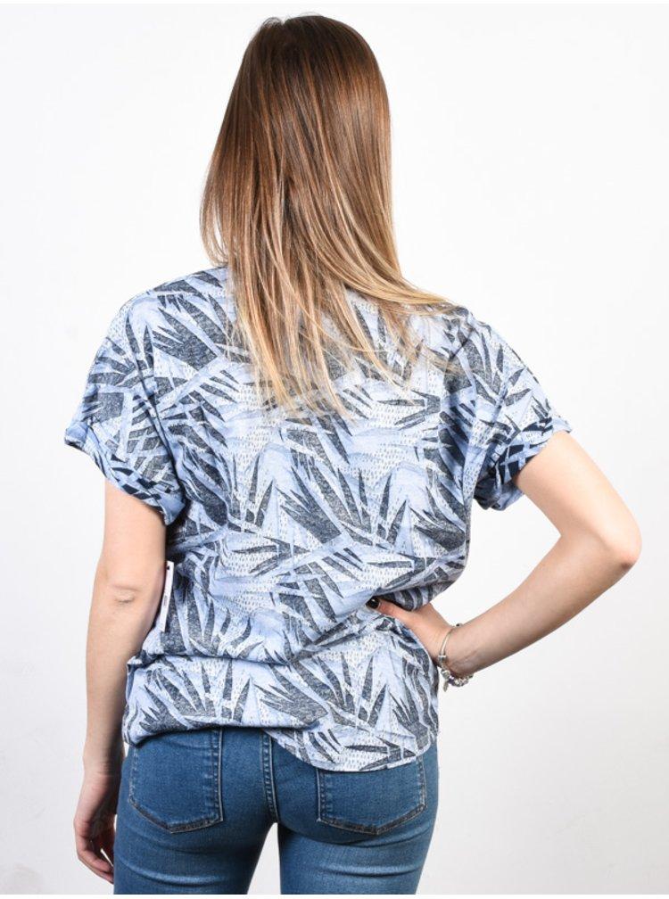 Volcom Breaknot Misty Blue dámské triko s krátkým rukávem - modrá
