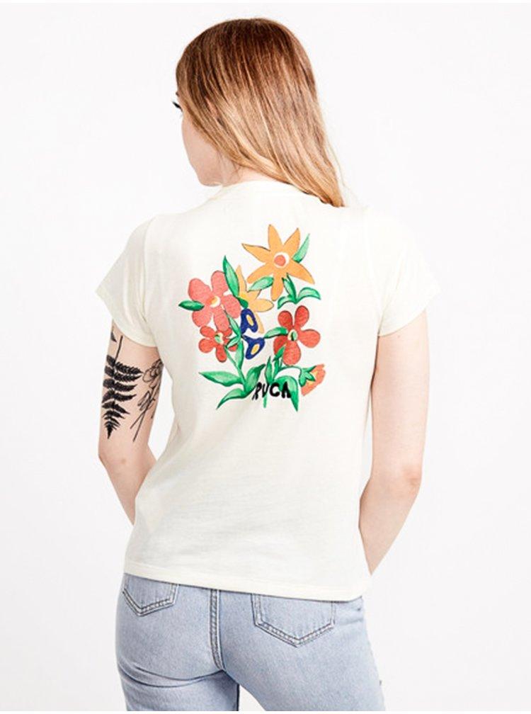 RVCA BOUQUET ANTIQUE WHITE dámské triko s krátkým rukávem - bílá