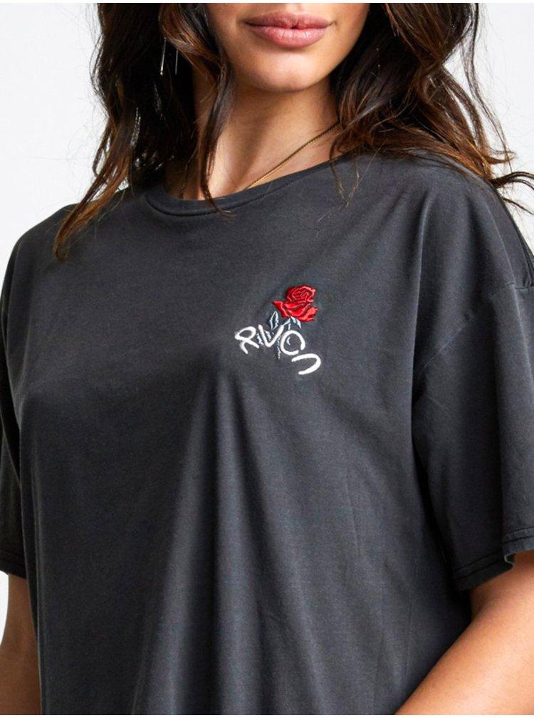 RVCA PETITE ROSE MINT dámské triko s krátkým rukávem - černá