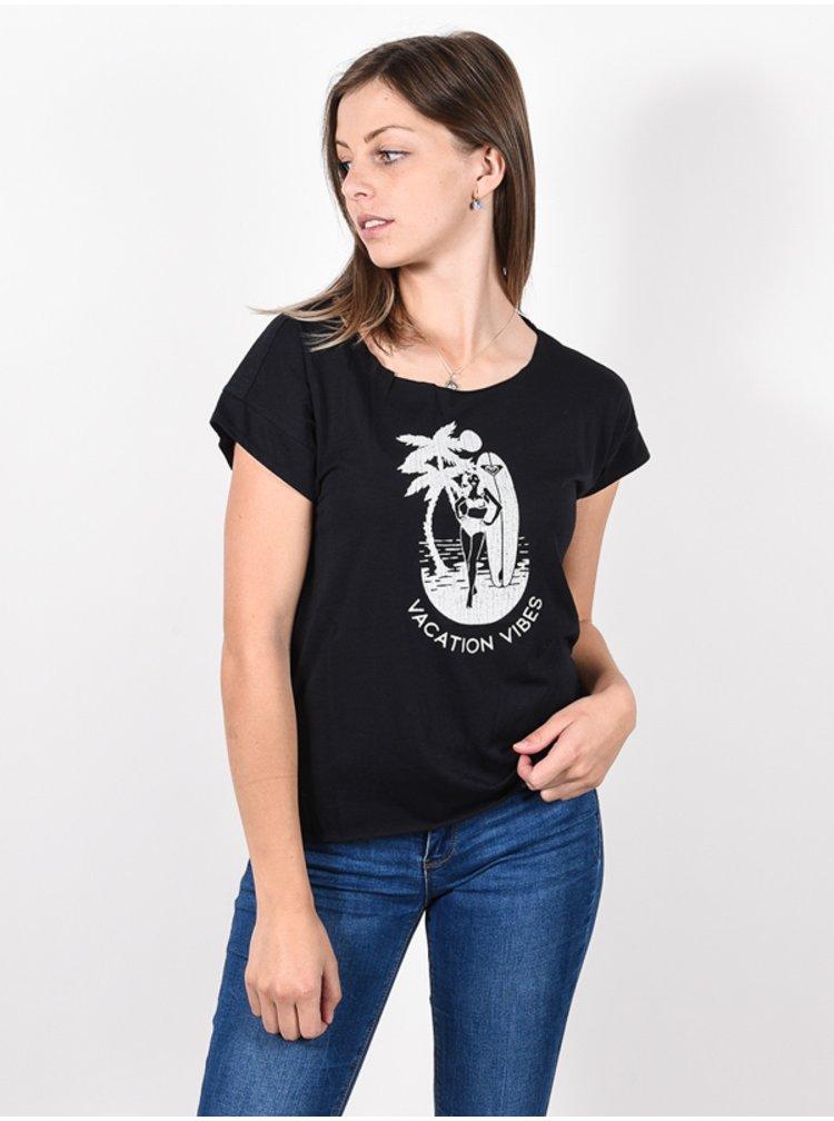 Roxy SWEET SUMMER NIGHT A ANTHRACITE dámské triko s krátkým rukávem - černá