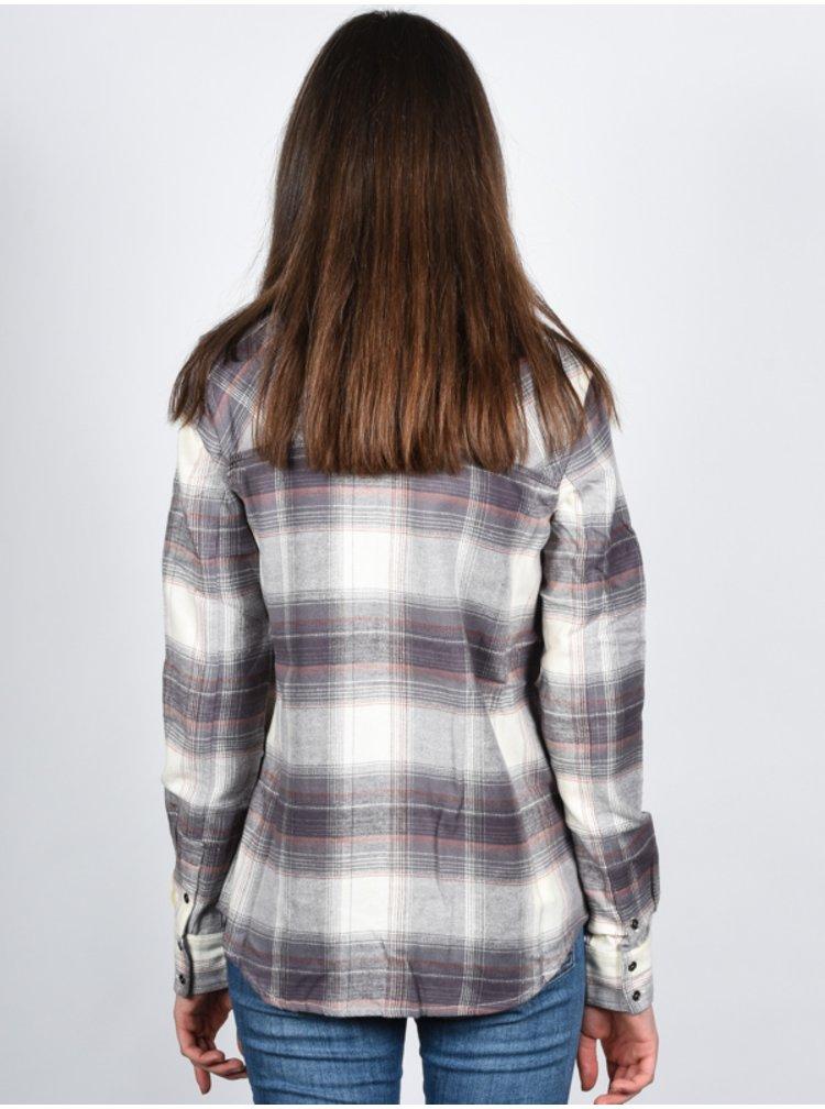 Element GUTTER GREY dámská košile s dlouhým rukávem - šedá