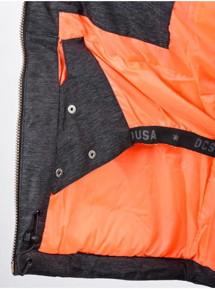 Dc LIBERTY black zimní dámská bunda - černá