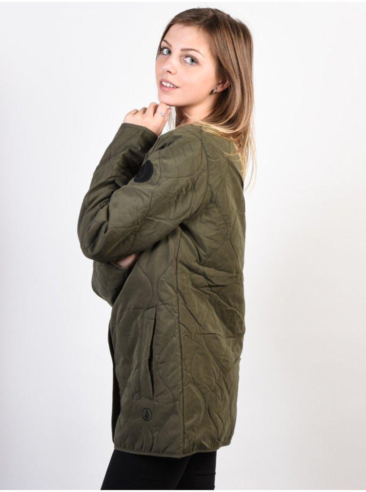 Volcom Jacket Liner Ins  MILITARY zimní dámská bunda - zelená